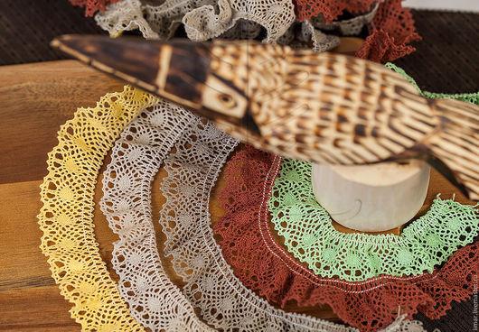 Шитье ручной работы. Ярмарка Мастеров - ручная работа. Купить Хлопковое кружево-стрейч  24 мм, 5 цветов. Handmade.