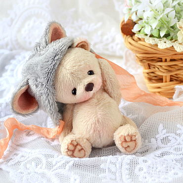 Куклы и игрушки ручной работы. Ярмарка Мастеров - ручная работа Мишка по имени Мышка (6 см). Handmade.