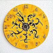 Часы классические ручной работы. Ярмарка Мастеров - ручная работа Часы настенные (серия Африка) часы в спальню, гостиную, кухню. Handmade.