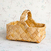 Для дома и интерьера handmade. Livemaster - original item A basket woven from birch bark. Gift basket wicker. Handmade.