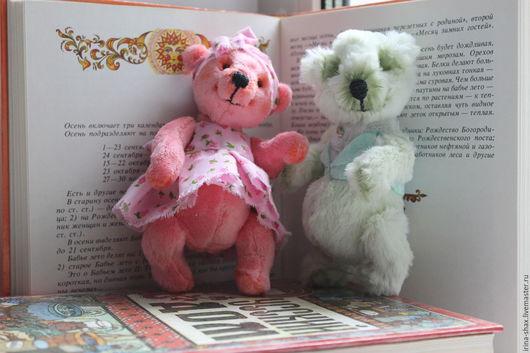 Мишки Тедди ручной работы. Ярмарка Мастеров - ручная работа. Купить Валюшка и Вовочка тедди-медведи. Handmade. Комбинированный, парочка