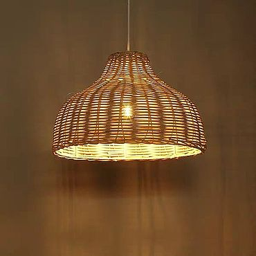Освещение ручной работы. Ярмарка Мастеров - ручная работа Люстра плетеная из прутьев. Handmade.