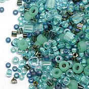 Бисер ручной работы. Ярмарка Мастеров - ручная работа Бисер Микс TOHO №3203 бирюзово-зеленый Японский бисер TOHO Beads 10гр. Handmade.