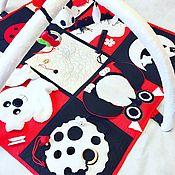 Мягкие игрушки ручной работы. Ярмарка Мастеров - ручная работа Красно-черно-белый коврик для малыша. Handmade.