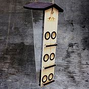 Дача и сад handmade. Livemaster - original item Bird feeder made of wood for fat