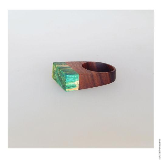 Кольца ручной работы. Ярмарка Мастеров - ручная работа. Купить Оригинальное кольцо из дерева.. Handmade. Комбинированный, Эко мода