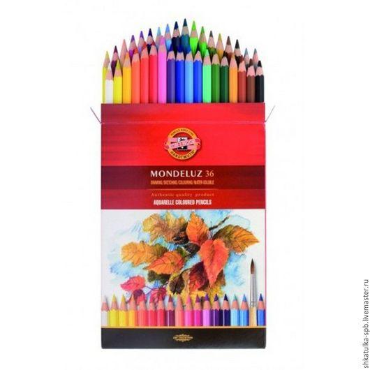Другие виды рукоделия ручной работы. Ярмарка Мастеров - ручная работа. Купить Карандаши акварельные 36 цветов MONDELUZ. Handmade.