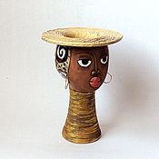 """Цветы и флористика ручной работы. Ярмарка Мастеров - ручная работа Кашпо """"Африканка"""". Handmade."""