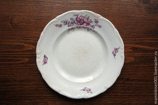 """Винтажная посуда. Ярмарка Мастеров - ручная работа. Купить Две пары винтажных тарелок завода """"Буди"""" (Украина). Handmade. Белый"""