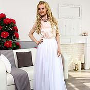 Одежда ручной работы. Ярмарка Мастеров - ручная работа Длинная юбка-пачка из оригинального еврофатина белая. Handmade.