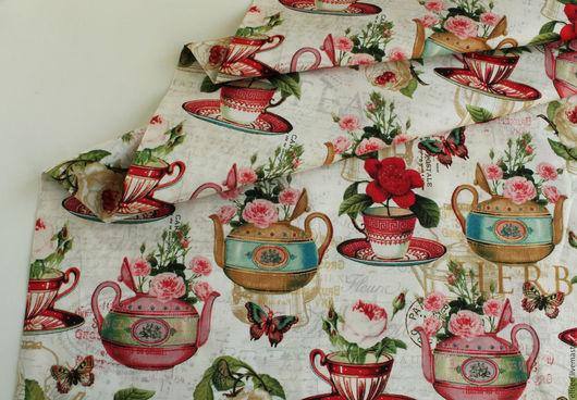 """Шитье ручной работы. Ярмарка Мастеров - ручная работа. Купить Ткань """"Чайные розы"""". Handmade. Ткани для творчества, ткань винтаж"""