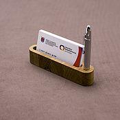 Органайзер ручной работы. Ярмарка Мастеров - ручная работа Подставка для визиток из дерева. Handmade.