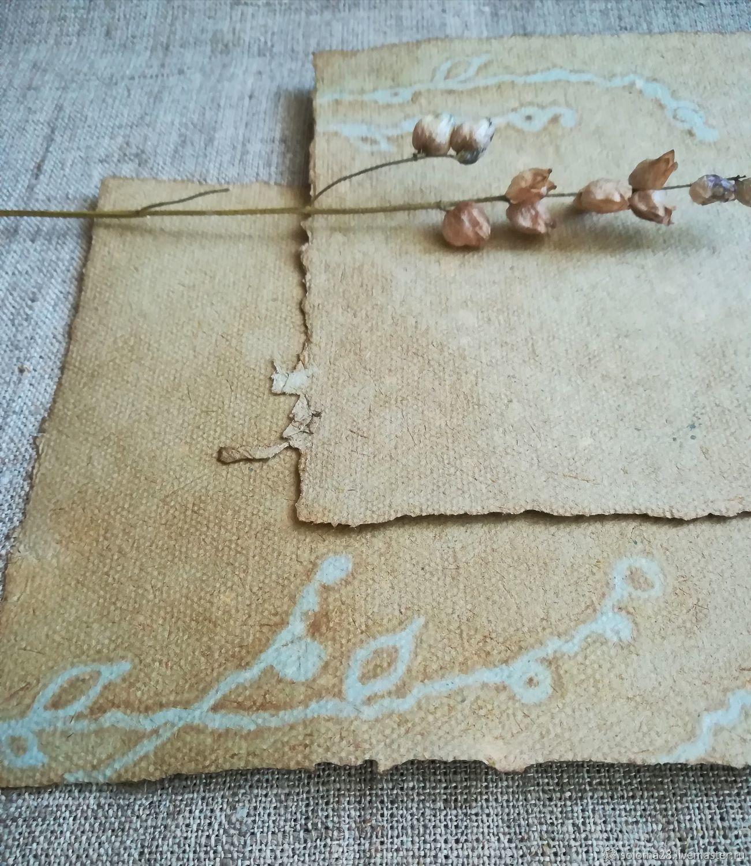 Paper manual casting Polina, handmade paper, Line, Nizhny Novgorod,  Фото №1