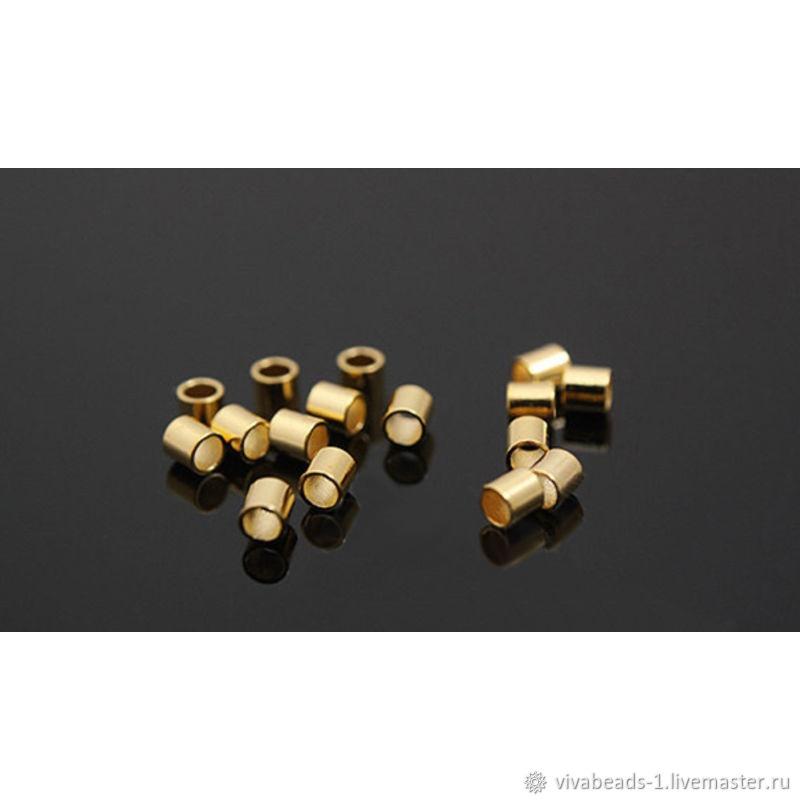 10 PCs. Crimps 2 mm gilt U. Korea     (2085), Accessories for jewelry, Voronezh,  Фото №1