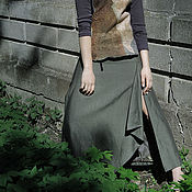 Одежда handmade. Livemaster - original item Long and wide skirt and silhouette with imitation smell on the lining. Handmade.