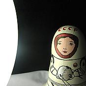 """Подарки к праздникам ручной работы. Ярмарка Мастеров - ручная работа Неваляшка звенящая """"Космонавт"""". Handmade."""