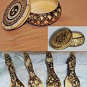 Для дома и интерьера ручной работы. Ярмарка Мастеров - ручная работа деревянная шкатулка. Handmade.