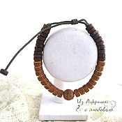 Украшения handmade. Livemaster - original item Bracelet COCONUT BROWN CASUAL EXOTIC. Handmade.