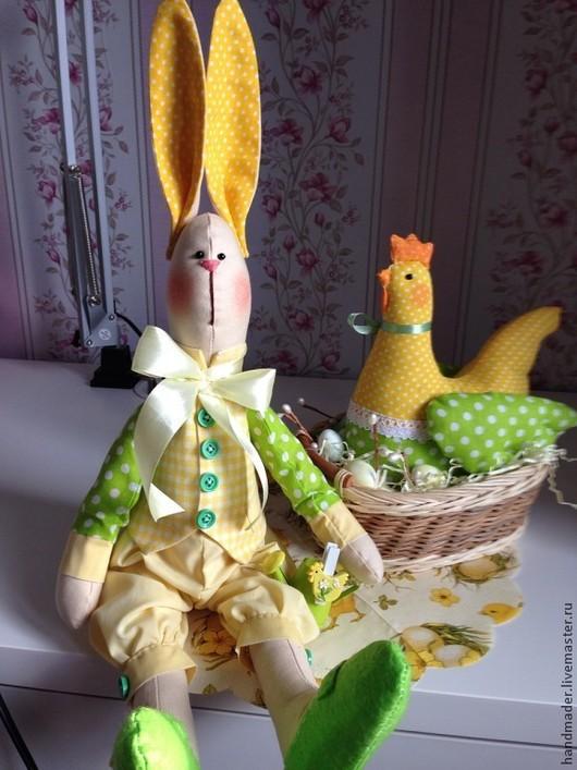 """Куклы Тильды ручной работы. Ярмарка Мастеров - ручная работа. Купить Интерьерная игрушка в стиле Тильда """"Весенне-Пасхальный кролик Роджер"""". Handmade."""