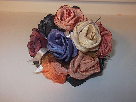 """Цветы ручной работы. Ярмарка Мастеров - ручная работа. Купить Украшение на подхваты """"розы"""" 9шт. Handmade. Подхваты, роза из ткани"""