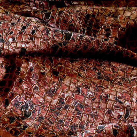 """Шитье ручной работы. Ярмарка Мастеров - ручная работа. Купить Деворе """"Мозаика"""" (терракотовый). Handmade. Комбинированный, деворе, шелк деворе"""