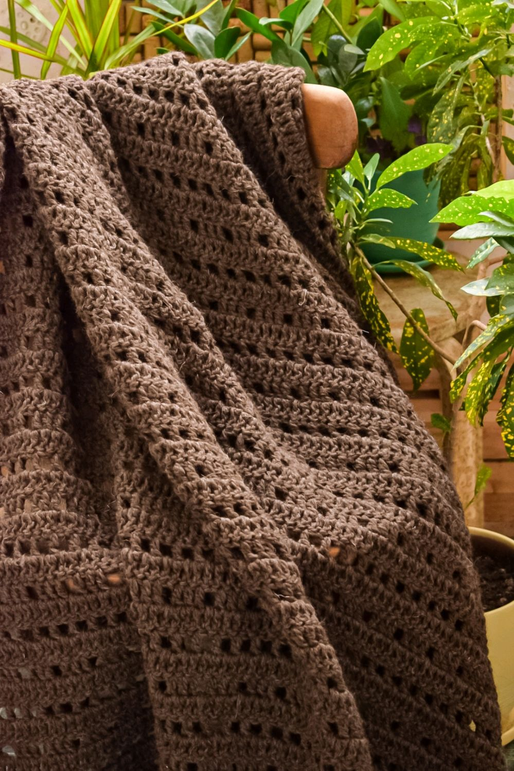 A blanket crocheted from eco-yarn, Blankets, Moscow,  Фото №1