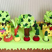 Грядка с овощами и фруктами