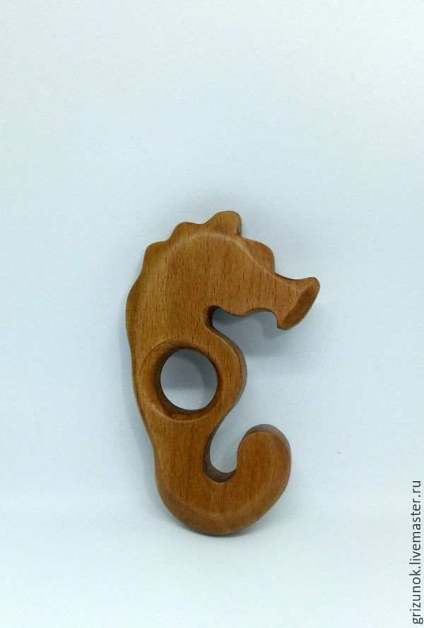 Teething toy teether Sea horse Wooden toy, Teethers and rattles, Zheleznodorozhny,  Фото №1