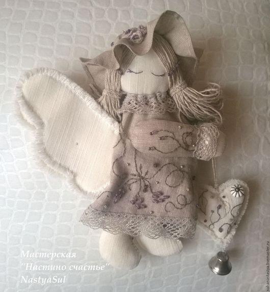 Коллекционные куклы ручной работы. Ярмарка Мастеров - ручная работа. Купить Ангел текстильный интерьерная кукла в шляпке. Handmade. Комбинированный