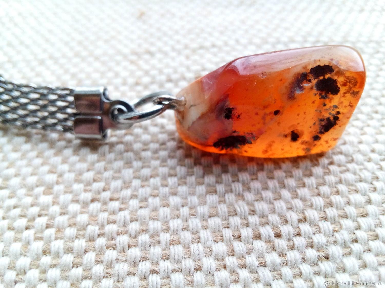 Брелок для ключей с натуральным сердоликом