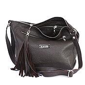 Сумки и аксессуары handmade. Livemaster - original item Chocolate Bag with strap Crossbody brown with pockets. Handmade.