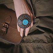 Украшения handmade. Livemaster - original item Large ring with turquoise. Handmade.