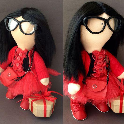 Коллекционные куклы ручной работы. Ярмарка Мастеров - ручная работа. Купить Черешенка. Handmade. Хлопок 100%, вельвет, искусственные волосы
