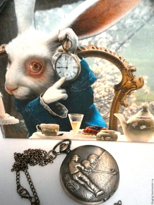 "Часы ручной работы. Ярмарка Мастеров - ручная работа. Купить Часы карманные ""Гольф"". Handmade. Часы, часы на цепочке"