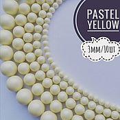 Бусины ручной работы. Ярмарка Мастеров - ручная работа Кристальный жемчуг Swarovski, Pastel Yellow Pearl, 3мм. Handmade.