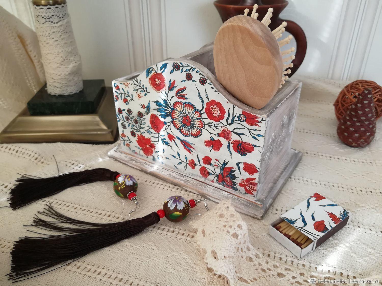 "Карандашница подставка для расчесок ""Индийский мотив"", Pencil holders, Pushkin,  Фото №1"
