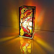 Для дома и интерьера handmade. Livemaster - original item Stained glass table lamp. Gustav Klimt, abstraction. Handmade.