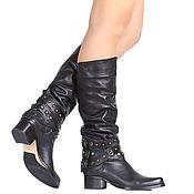 Обувь ручной работы handmade. Livemaster - original item Winter female boots genuine leather real fur. Handmade.