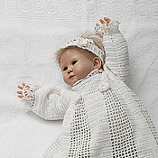 Работы для детей, ручной работы. Ярмарка Мастеров - ручная работа Белое крестильное платье для девочки Очарование. Handmade.