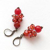 Украшения handmade. Livemaster - original item earrings with carnelian. Handmade.