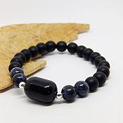 handmade. Livemaster - original item Witch`s Wasteland bracelet (sodalite, Morion, frosted glass). Handmade.