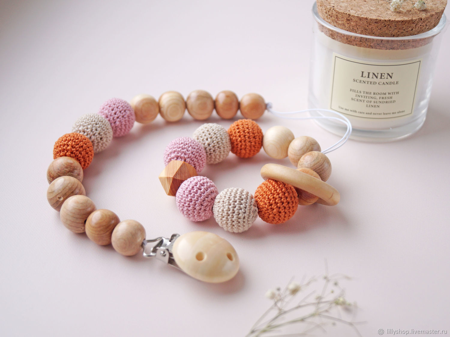 A gift for the birth of a girl, a juniper rodent, Teething toys, St. Petersburg,  Фото №1