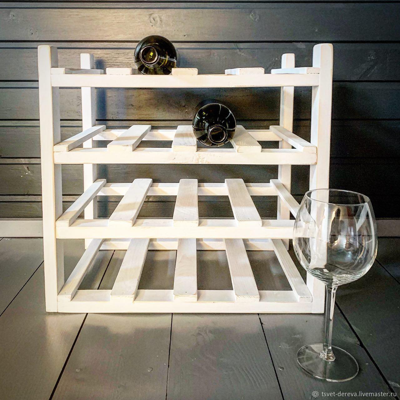Shelf for wine for 16 bottles in white, Shelves, Moscow,  Фото №1