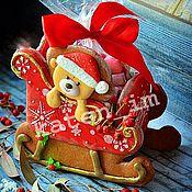 Подарки к праздникам handmade. Livemaster - original item Christmas sleigh. Handmade.