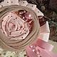 Броши ручной работы. Ярмарка Мастеров - ручная работа. Купить Брошь текстильная. Handmade. Розовый, брошка, шебби, кружево