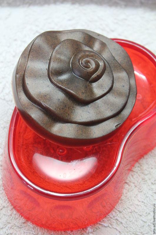 Мыло ручной работы. Ярмарка Мастеров - ручная работа. Купить Шоколадная роза мыло. Handmade. Коричневый, мыло ручной работы