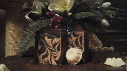 Мыло ручной работы. Ярмарка Мастеров - ручная работа. Купить взбитое мыло Воздушный шоколад. Handmade. Коричневый, молочное мыло