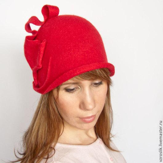 """Шляпы ручной работы. Ярмарка Мастеров - ручная работа. Купить Шляпка """"Причуды страсти"""". Handmade. Ярко-красный, купить шляпку"""
