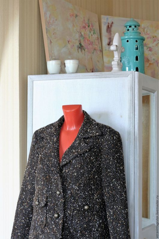 Верхняя одежда ручной работы. Ярмарка Мастеров - ручная работа. Купить 25 Пальто или пиджак  букле коричневый 50 52. Handmade.