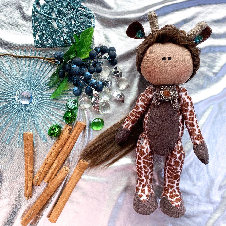 Кукла интерьерная жираф, Куклы Тильда, Балашиха,  Фото №1